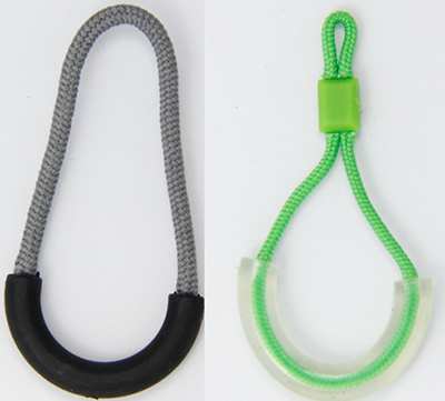 Unique U Shape Zip Fastener Puller , Promotional Zipper Pulls With String