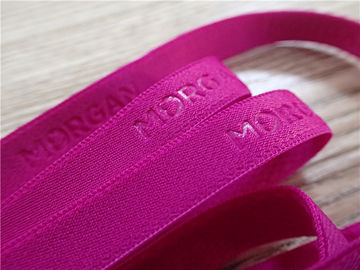 Pink Soft Elastic Band High Frequency Fashion 3D Or Logo On Webbing For Underwear